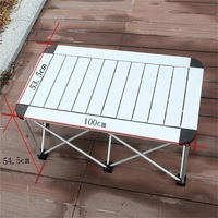 100*53.5*54.5CM Aluminum Alloy Folding Table Portable Outdoor Camping Table Barbecue Table Picnic Desk Advertising Desk