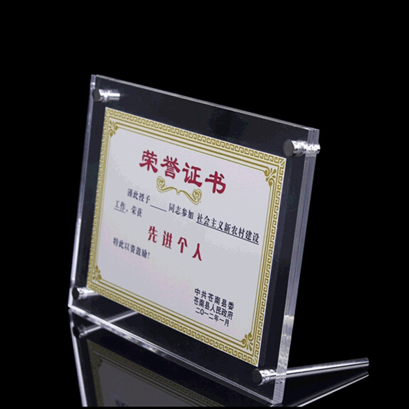 Acrylic Photo Frame Magnetic Photo Frame Sign display  PF002