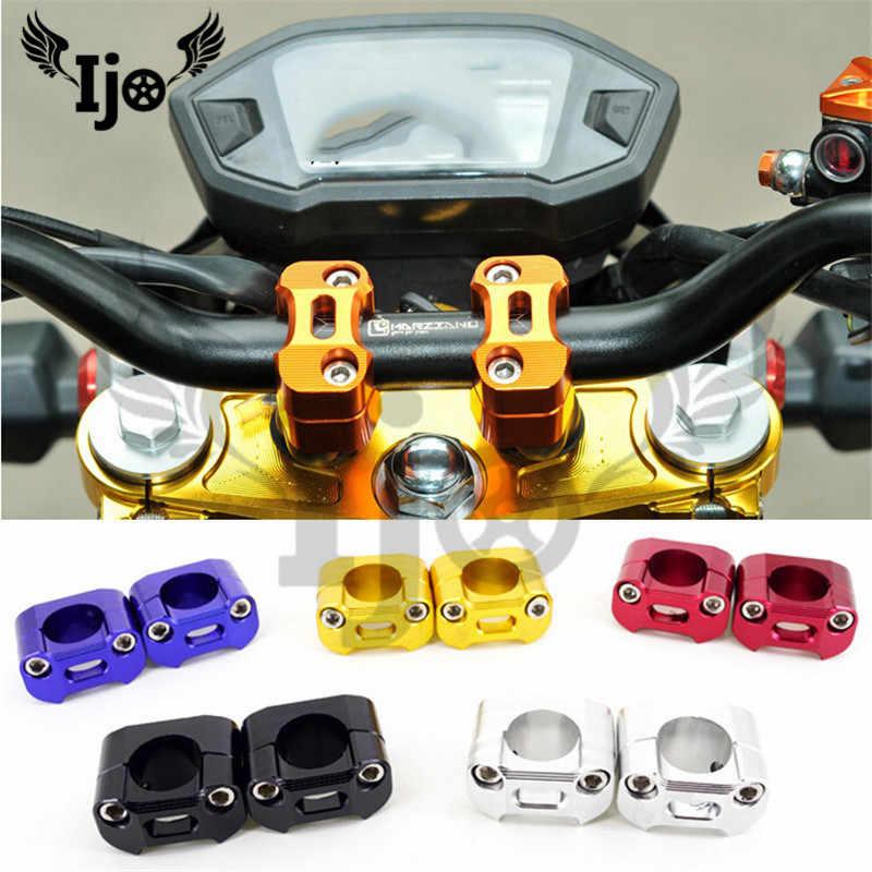 Regun Manillar de Motocicleta-1 par de Abrazaderas de Manillar de Motocicleta de aleaci/ón de Aluminio Elevador de 22 mm o 28 mm