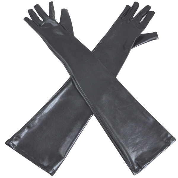 Bondage play rubber gloves