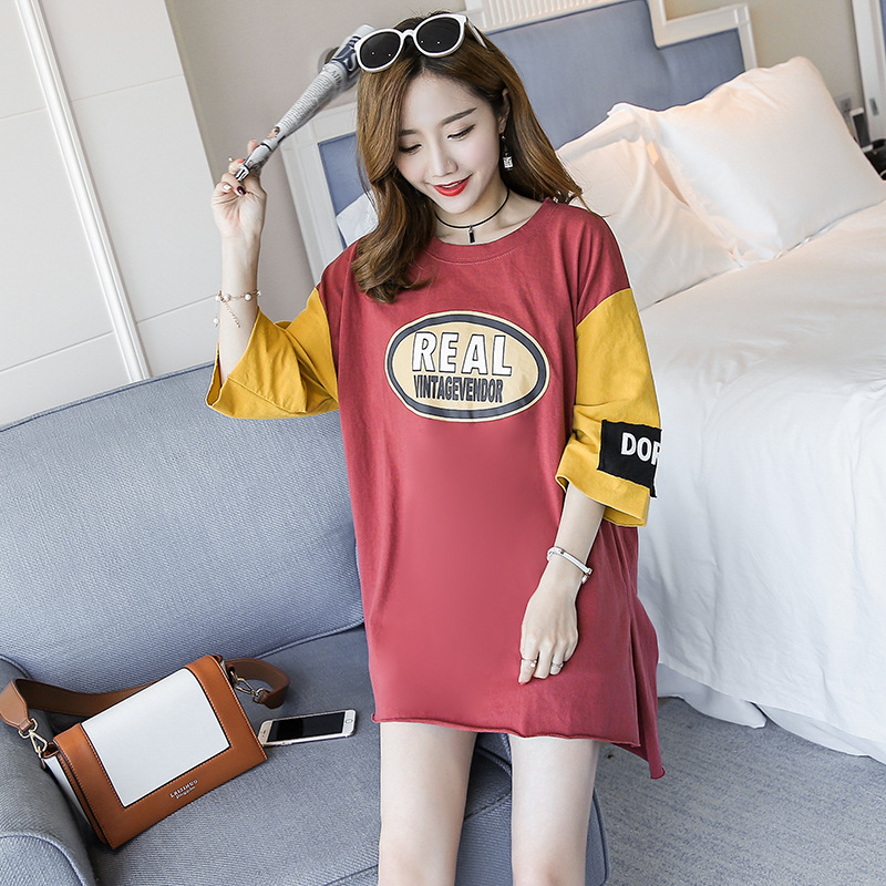Pregnant Women Summer Wear Jacket 2018 New Large Cotton Short Sleeved Dress Code In The Long Section Of Spring And Summer Female