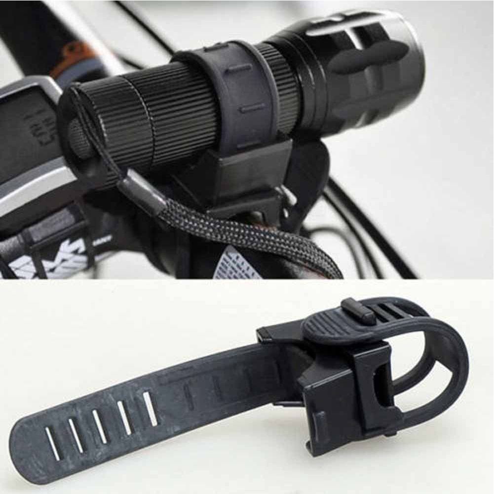 Bicycle Light Holder Bike Lantern Bracket Flashlight Torch Mount Clamp Lamp Clip Cycling LED Lights Device Bicycle Parts