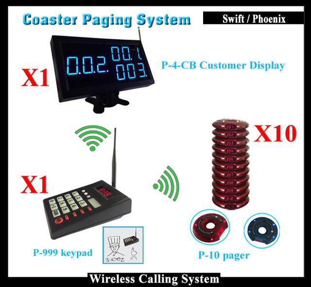 Queue Wireless Sistema de Llamada Del Restaurante Con Teclado Inalámbrico y Pantalla Del Menú y Sistema de Llamada 20 Receptor