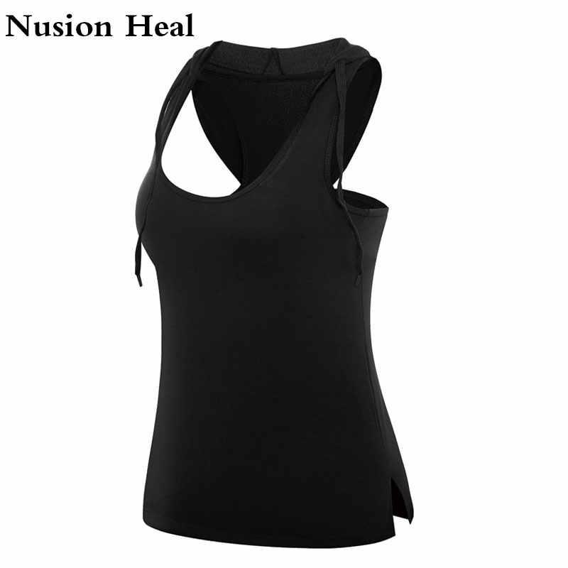 Super oferta damska Tank Yoga topy szybkie suszenie luźne oddychające koszulki do fitnessu kamizelka bez rękawów trening siłownia Top kobiety koszulki do jogi