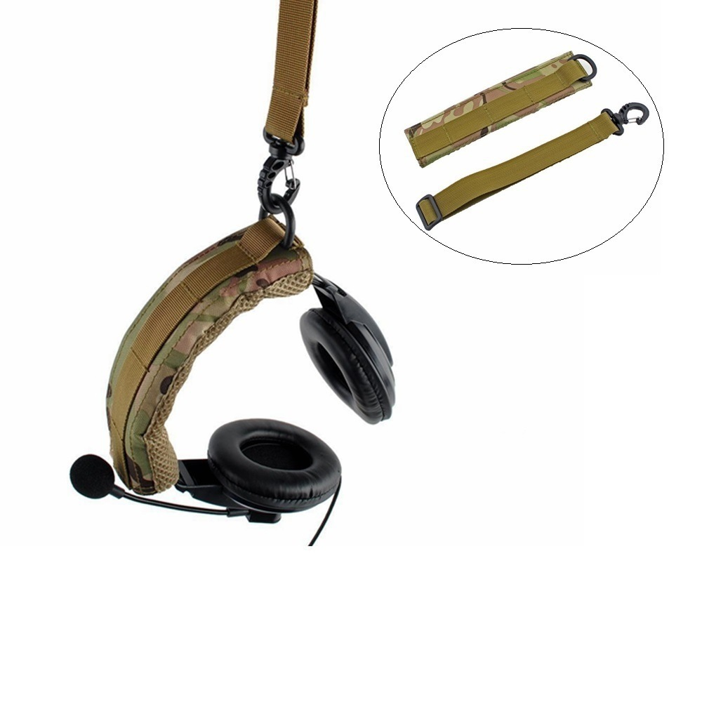 Image 4 - Tactical Earphone Cover Advanced Modular Headset Cover Molle Headband for General Tactical Earmuffs Hunting Accessories-in Holsters from Sports & Entertainment