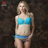 Push Up Bikinis Women Plus Size Hot Sexy Swimwear Trikinis Bathing Suit Underwire Bikini Set With