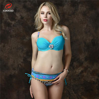 Push Up Bikinis Women Plus Size Hot Sexy Swimwear Trikinis Bathing Suit Underwire Bikini Set With