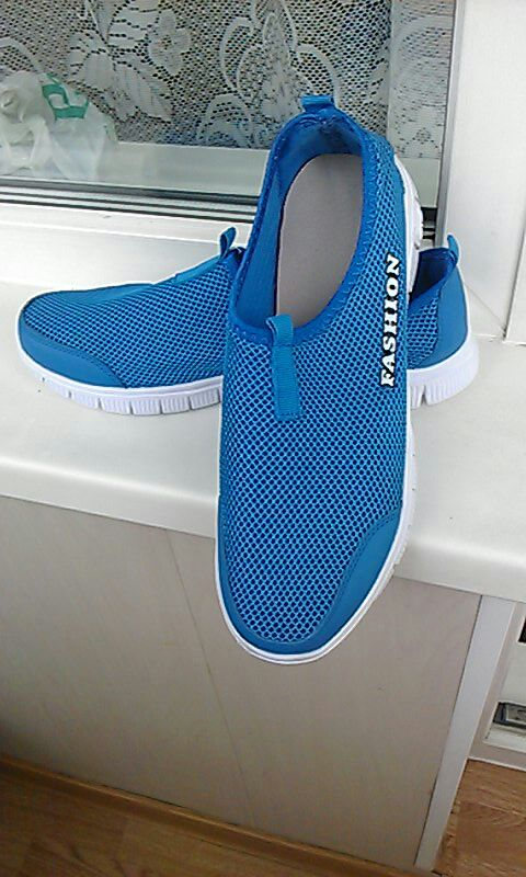 Men Shoes 2016 Fashion Brand Sport Outdoor Mesh Shoes High Quality Breathable Slip on Summer Casual