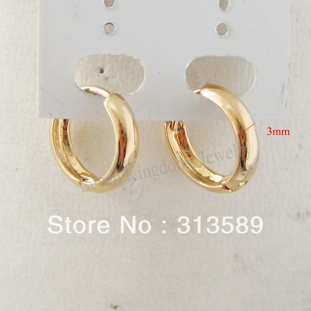 Min Order 10 Can Mix Design Cute Plain 24k Yellow Gold Gp Solid Filloverlay