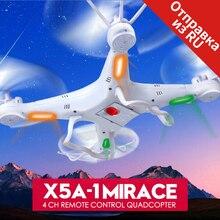 Syma rc drone x5a-1 2.4g 6 axis gyro helicóptero de control remoto aviones quadcopter drones sin cámara blanco dron