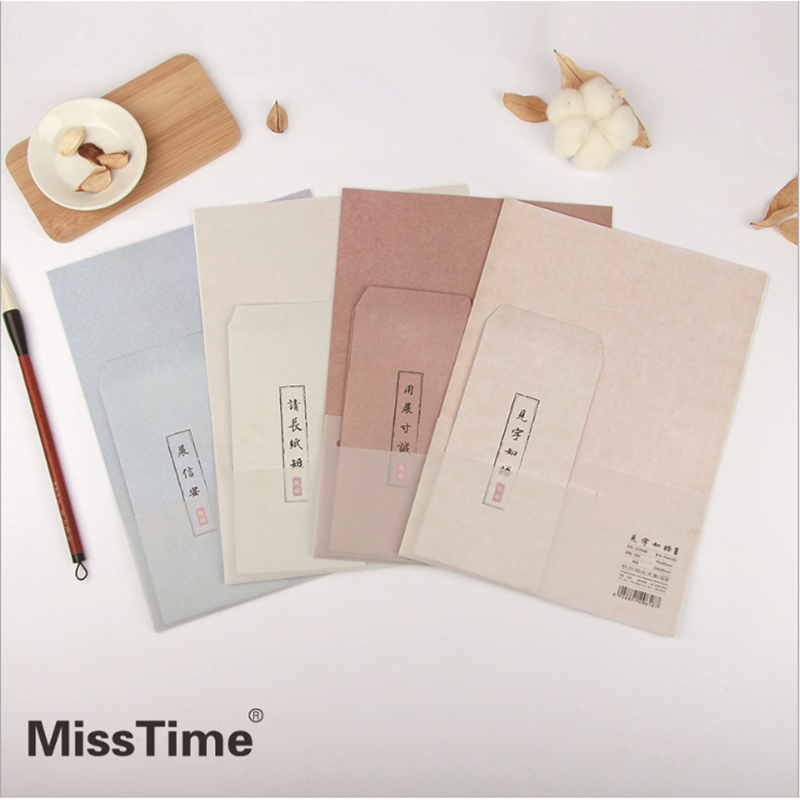 Paper Letter & Envelope Set 72pcs Writing Paper 36pcs Envelope Sketch Paper Chinese Style Love Letter A4 Printing Paper new arrival 22 11cm 15 style 15pcs elegant diy writting envelope love letter supplies classic design letters pad