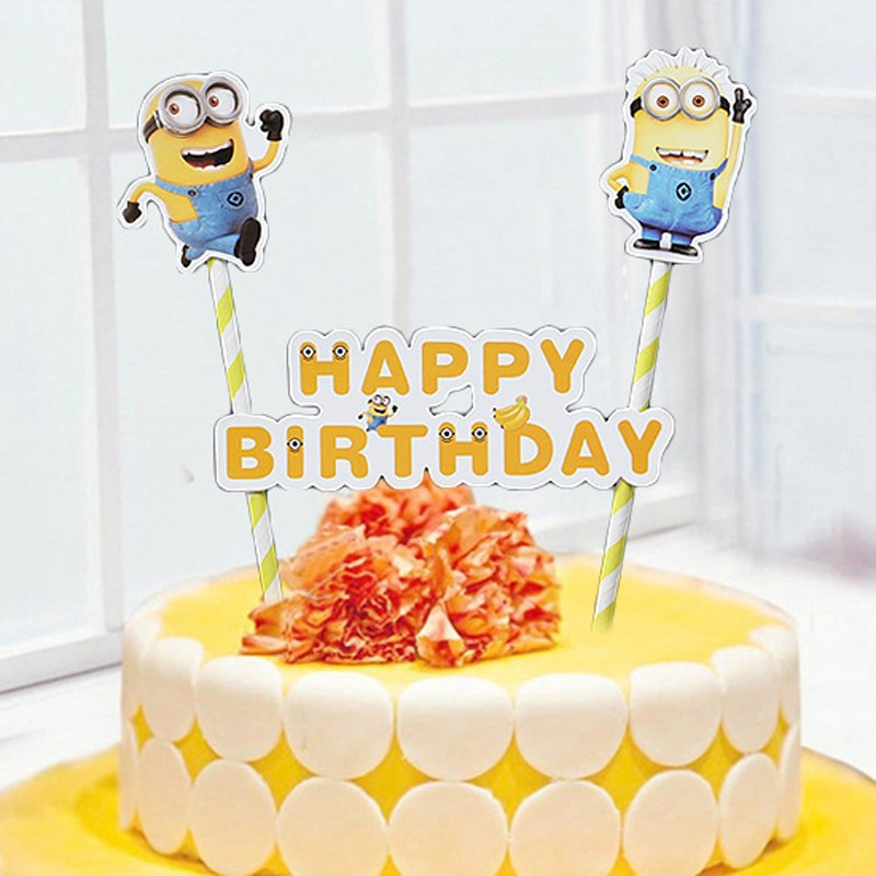 Cute Birthday Cake Topper decoration for Kids Happy Birthday Party