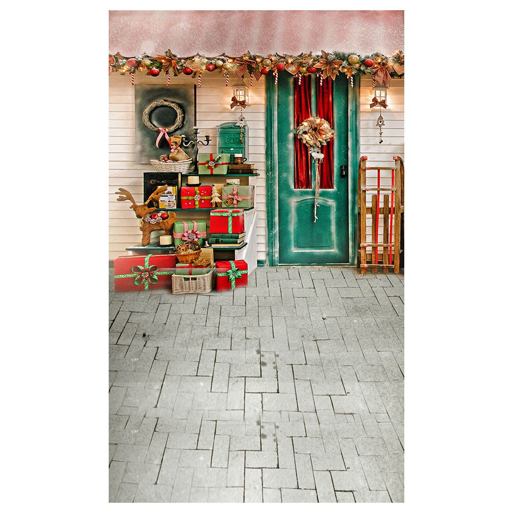 5X7FT 150X210CM Vinyl Christmas theme picture cloth custom photography background studio props Stone floor flooring gift sled 5x7ft 150x210cm vinyl christmas theme picture cloth custom photography background studio props wooden floor christmas socks gi