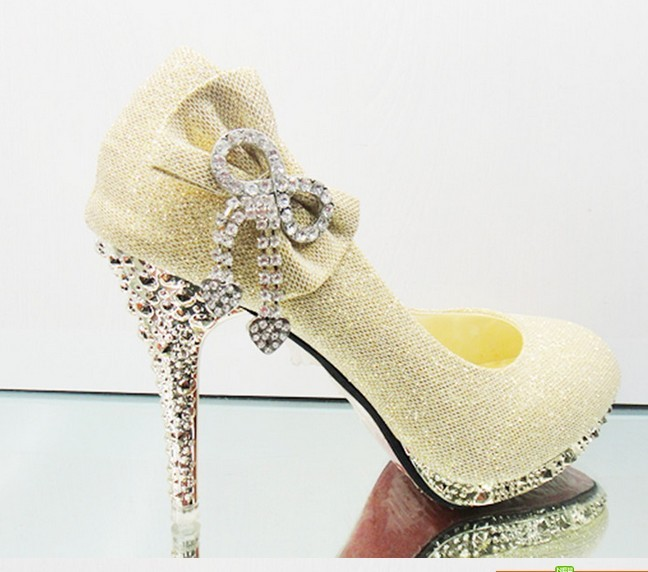 c8615f7618aa Fashion Elegance High Heel Women S Shoes Champagne Color Wedding