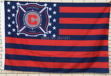 Chicago Fire Stars and Stripes MLS Nation American Outdoor Indoor Hockey Baseball College Flag 3X5 Custom USA Any Team Flag
