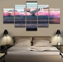 5 Piece Cartoon Anime Pictures Artwork Your Name Poster Paintings Canvas Art for Home Decor Wall