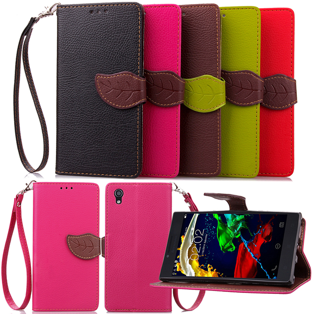 Leaf Case for Lenovo P70 P 70 70A 70T Flip Case Wallet Phone Leather Cover for Lenovo P70-A P70-T