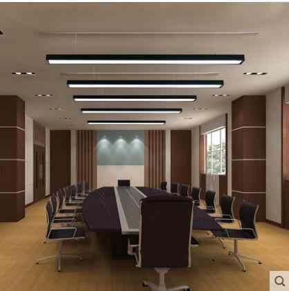 사무실 샹들리에 led 사무실 조명 사무실 droplight 체육관 스트립 교수형 와이어 램프 스튜디오 알루미늄 광장 condole 램프