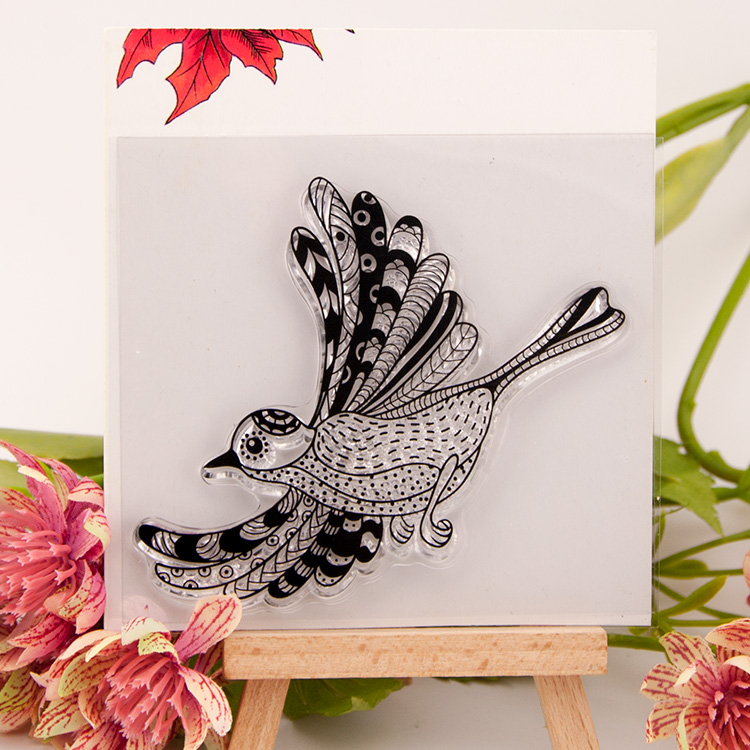 Animal Bird Scrapbook DIY Photo Album Account Transparent Silicone Rubber Clear Stamps rubber seal cartoon animal pattern from 2012 ea1420 1ms new 0626 coastal bird stamps