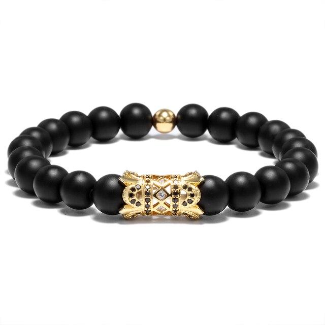 2PC Metal Piercing Flower Rivet Beads Bracelets  4