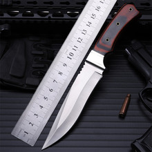 2016 real outdoor camping with small straight cutting tool self-defense wilderness survival hunting knife high hardness annatt 2016 survival manual forging equipment straight knife self defense camping hunting knife high hardness tool collection