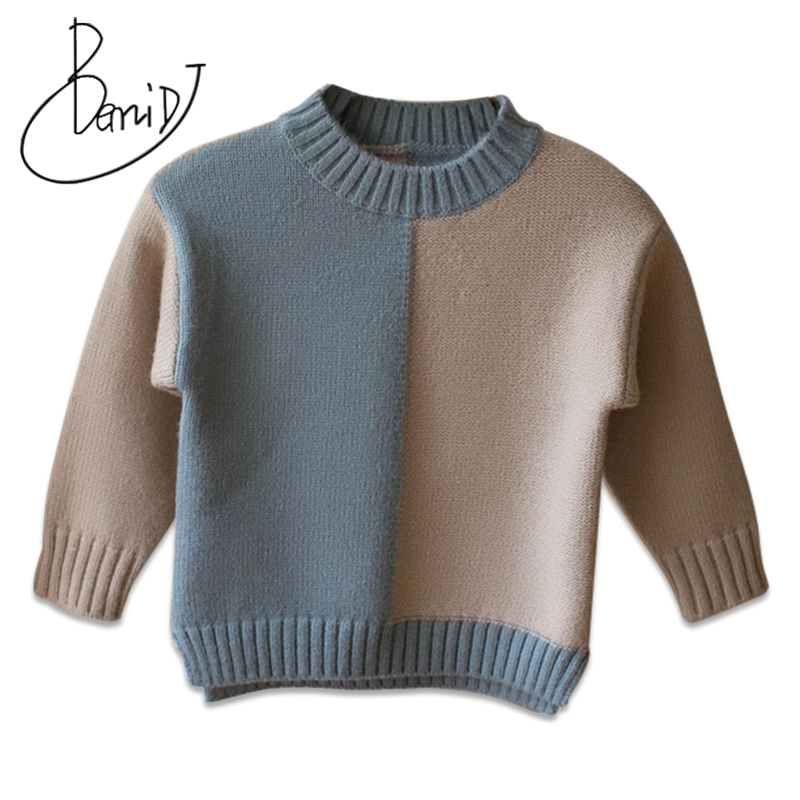 2018 kids sweaters boys Patchwork sweaters children pullover spring autumn baby boy knitted top child boy sweater winter clothes baby boy sweater child clothes autumn knitted tops fall boys sweaters 2018 winter fake designer kids knit pullover for children