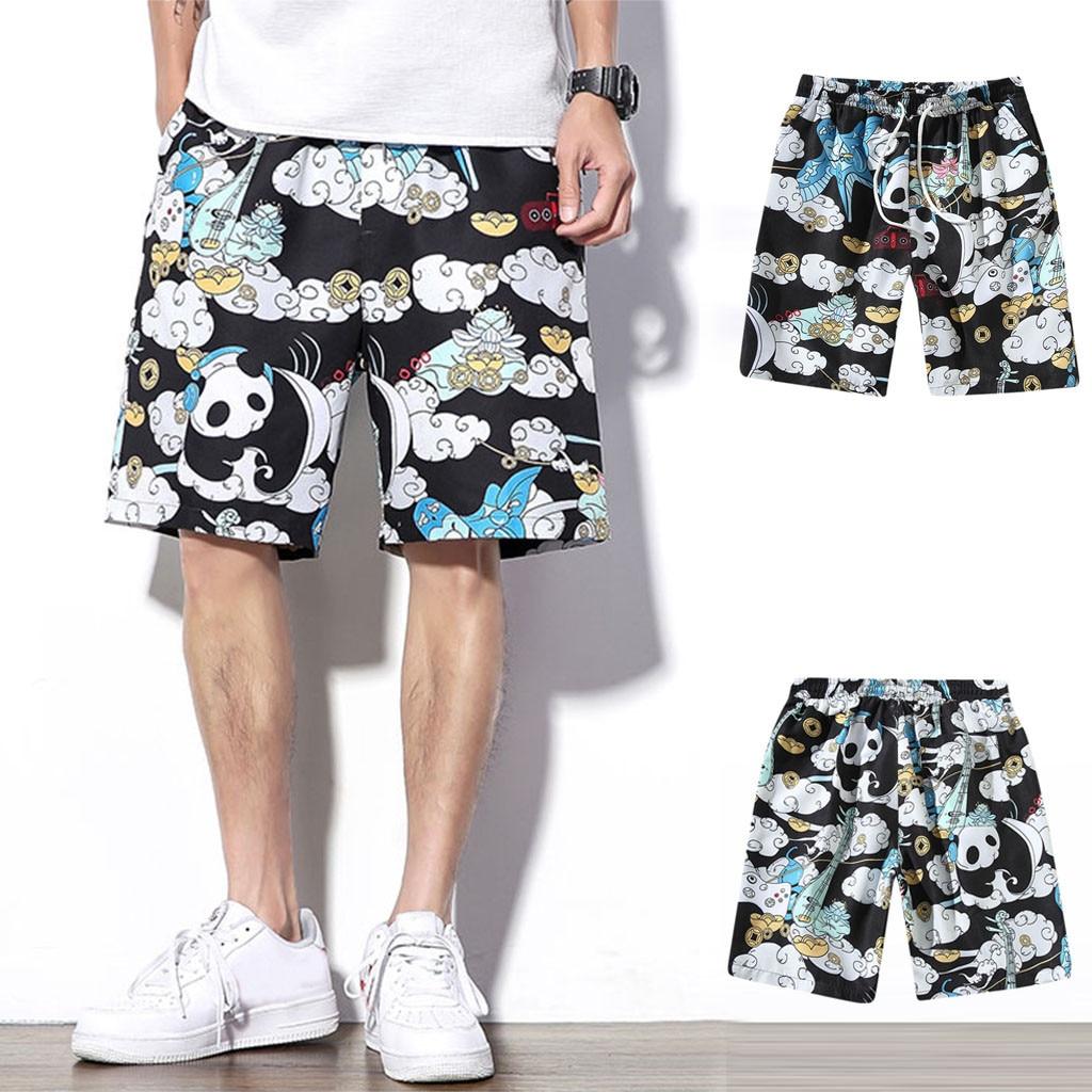 Men Pant Fashion Men's Summer Casual Trend Loose-fitting Plus Size Five Cent Beach Pants