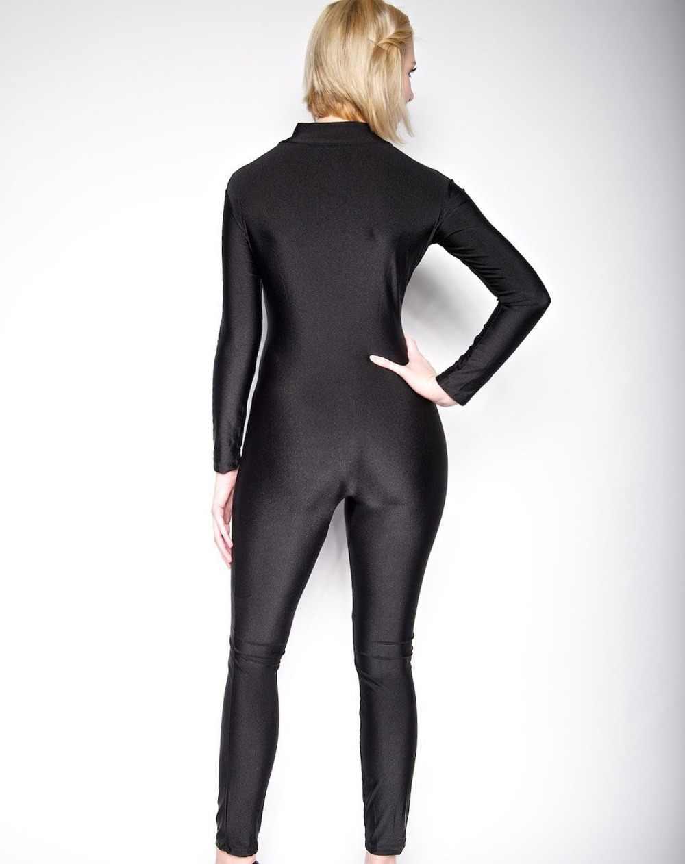 Speerise adulto Lycra Spandex Unitard Bodysuit cuerpo completo de manga larga para mujer Ropa de baile de una pieza cuello alto Zentai para mujer