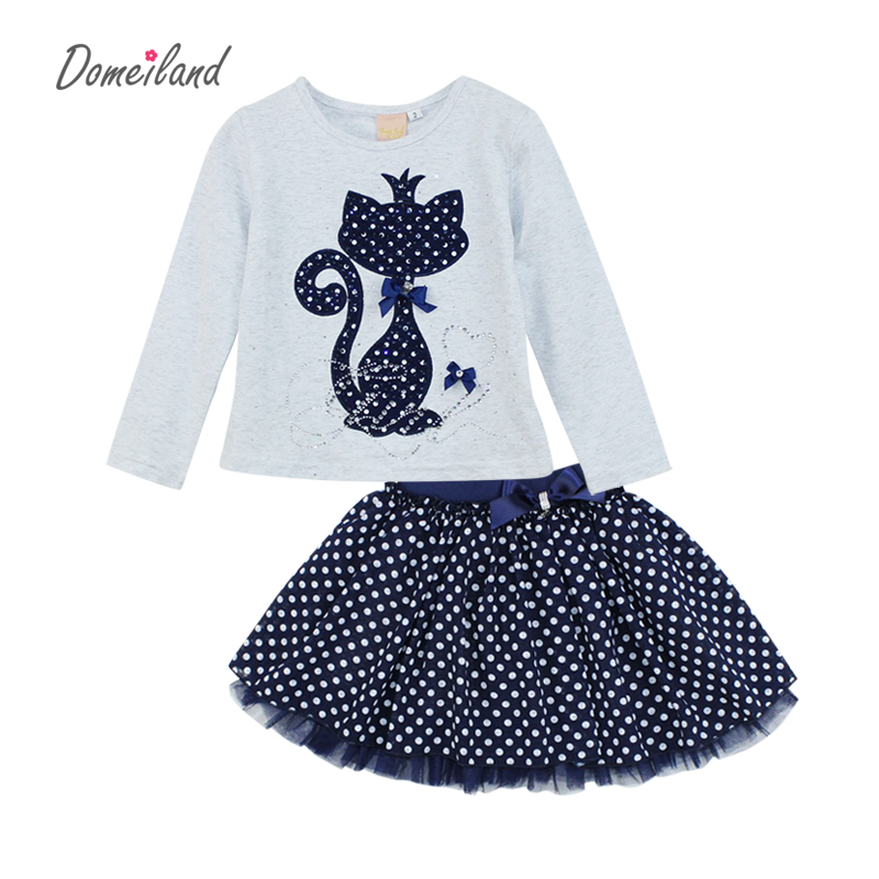 2017-Fashion-Spring-DOMEILAND-Boutique-Outfits-Baby-clothes-Girls-Sets-Cute-cat-Print-Long-Sleeve-Tops-Bow-Tutu-Skirts-suits-2