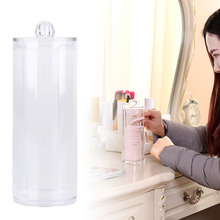 Round Container Storage Case for Makeup Cotton Pads Container Box Cosmetic Nail Art Remover Paper Wipe Acrylic Transparent