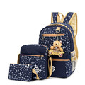 2017 With Bear School Bags For Teenagers Girls Daily Backpacks Star Printing Bookbag Cute Back PackWomen Backpack   Q3