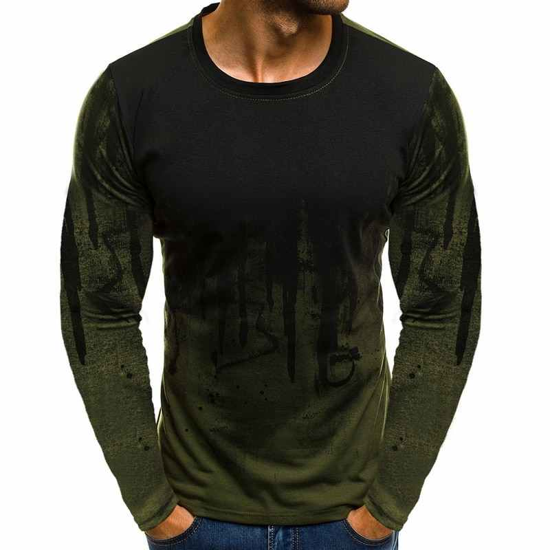 NIBESSER  Bottoms 3XL Plus Size Tee Top Male Hiphop Streetwear Long Sleeve Fitness Tshirts Men Printed Camouflage Male T-shirts