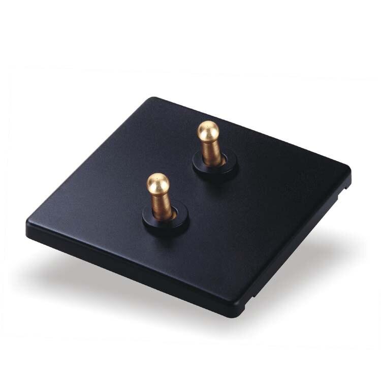 цена на 86 Style Light Switch Borad  Retro  Black Wall  Switch  Two Control  Two  Way   10A  110V- 250V