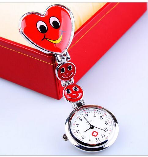 2020 New Nurse Doctor Pendant Pocket Quartz Red Cross Brooch Nurses Watch Fob Hanging Medical