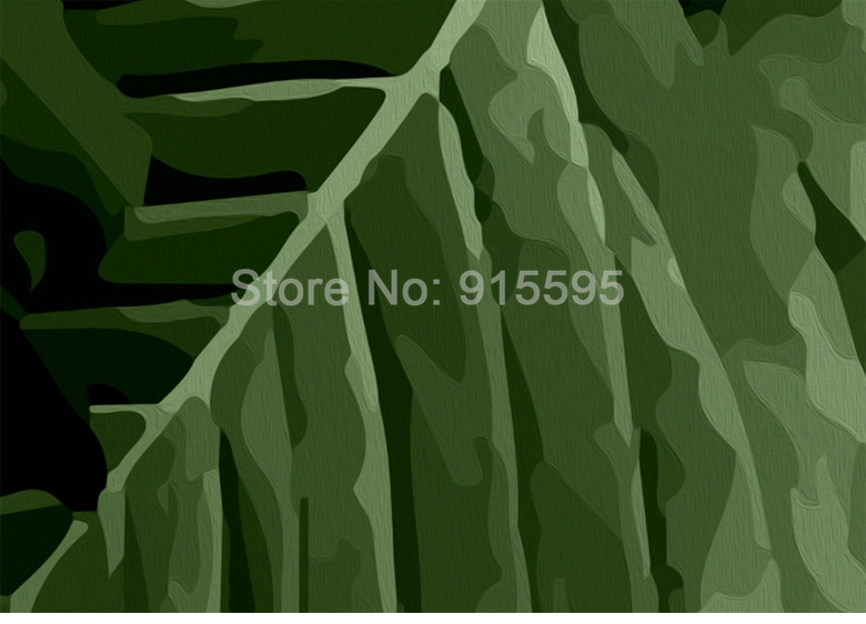 Tropical Rain Forest Banana Leaves Photo Wallpaper Custom Wall Painting Living Room Sofa Bedroom Background Wall Decor 3d Murals