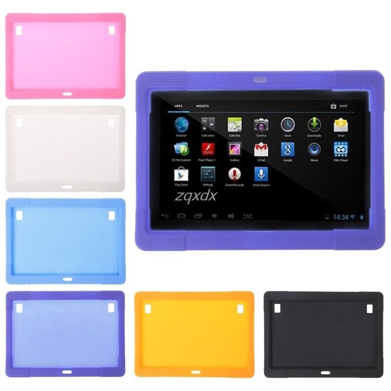 10.1 pouce En Silicone Cas Tablet Couverture pour Tab MTK8752 K107 S107 MTK6592 Tablet Z08 Drop ship
