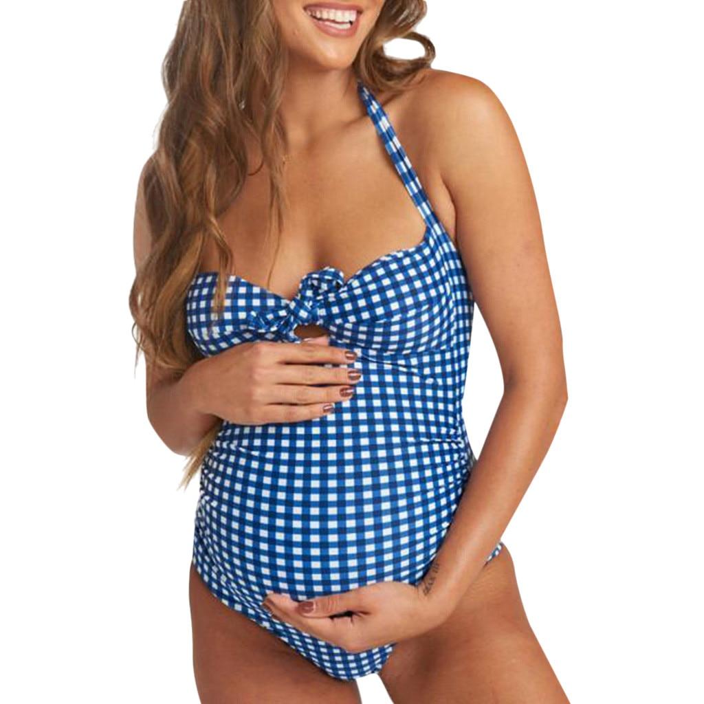 Pregnant Women/'s Tankini Two Piece Swimwear Polka Dot Bikini Beachwear Maternity