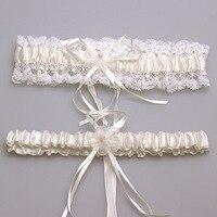 Ivory Sexy Lace Bowknot Bridal Garter Set Wedding Accessoreis Leg Garters Belt Bride Garter Pink