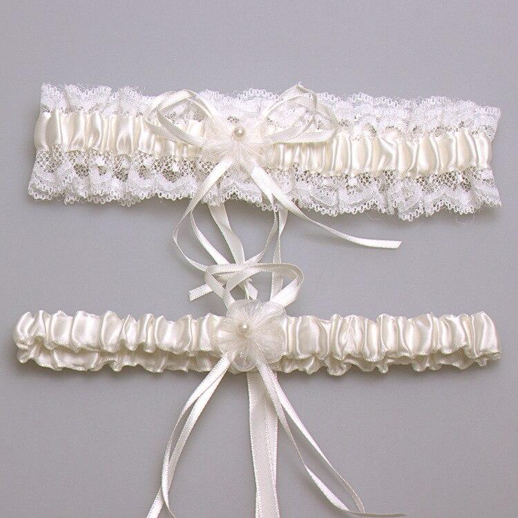 Ivory Sexy Lace Bowknot Bridal Garter Set Wedding