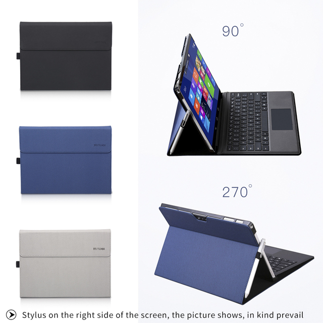 Men Stand Laptop Case for Microsoft Surface pro 4 foldable Laptop Holder for Surface New pro 5 Notebook case for new surface pro