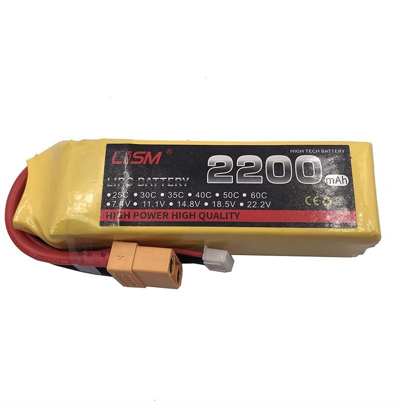 RC Lipo battery 4S <font><b>14.8V</b></font> <font><b>2200mAh</b></font> 40c max80c for Airplane Boat Car Tank akku batteria high quality#15A66 image