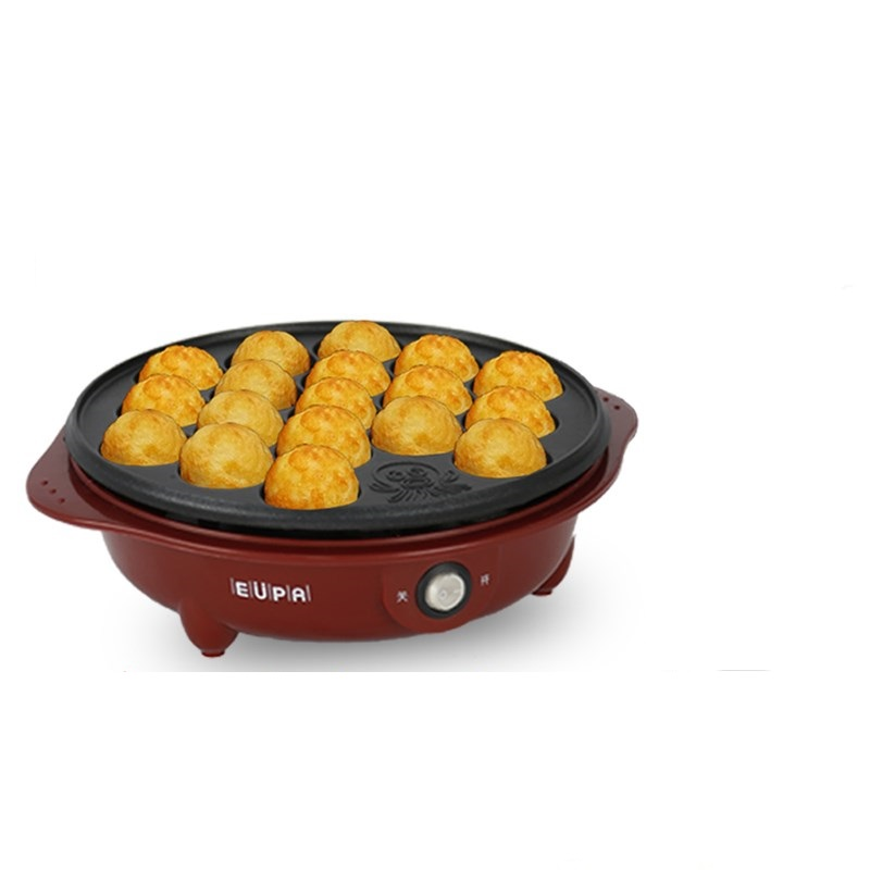 220V/650W Household Non-stick Electric Professional Octopus Balls Machine Multifunctional Takoyaki Maker Meat Ball Fish 18 Holes household takoyaki meatball maker grill plate 18 small takoyaki machine non stick electric grill pan cooker with 18 molds