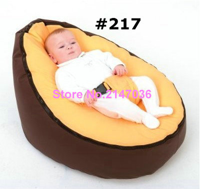 New yellow / coffee Baby infant Bean Bag Snuggle Bed Portable Seat bed Without Filling
