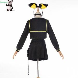 Image 4 - CosplayLove Vocaloid MAGIQUE MIRAI 10th Anniversaire Concerto Dal Vivo Vocale Kagamine Rin Cosplay Costume Per Le Ragazze Su ordine
