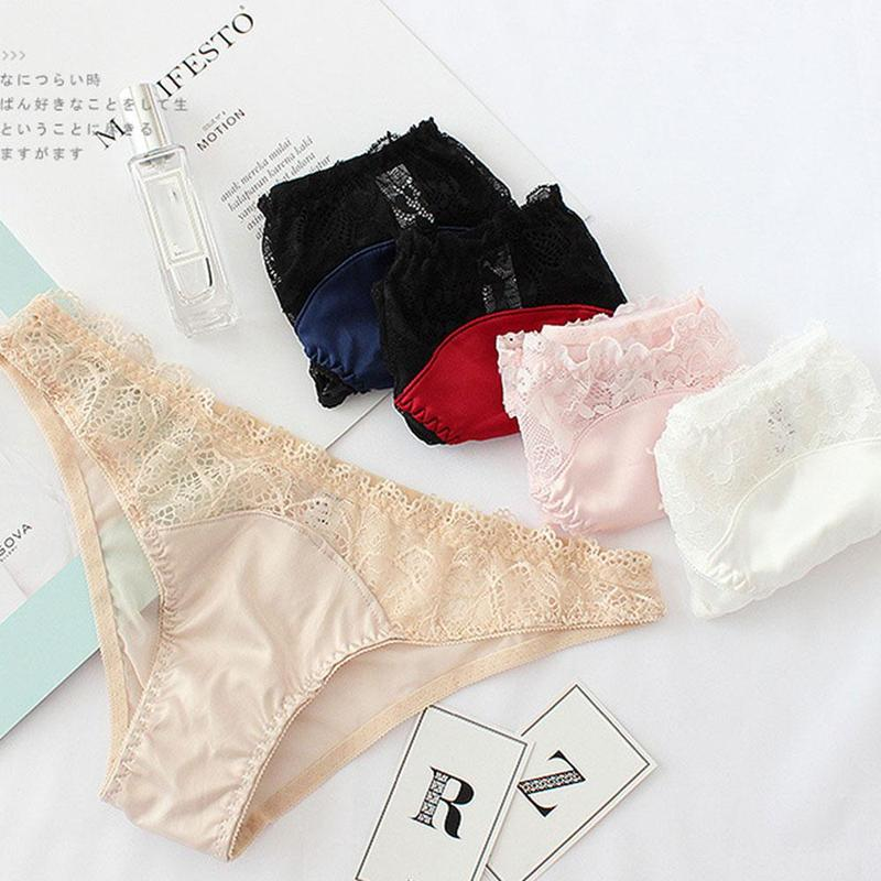 eaacaf326f6c Women Underwear Briefs Sexy Lace Women's Panties Full Transparent ...