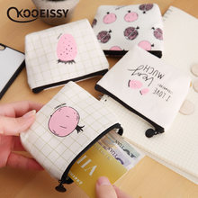 Ins Style Canvas Pocket Money Storage Bag Foldable Travel Credit Card Organizer Data Line Cables Storage Box Coin Candy Case(China)