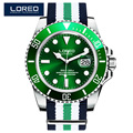 LOREO Germany watches men luxury automatic self-wind waterproof 200M yacht oyster perpetual master relogio masculino 116613LB