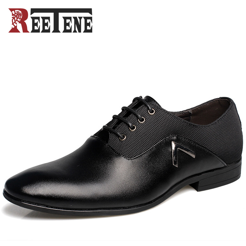 Fashion Mens Pointed Toe Dress Shoes Summer Men Shoes Luxury Brand 2016 High Quality Men PU