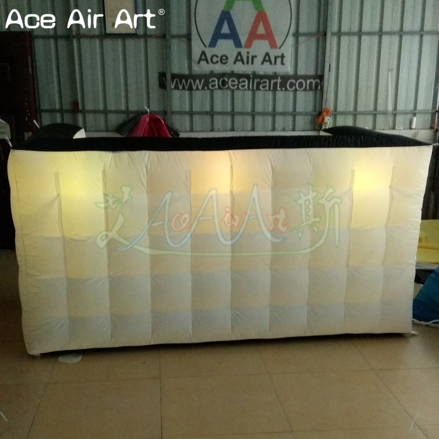 Dj Booth For Sale >> Us 350 0 Nicely Led Lighting Inflatable Bar Table Counter Advertising Logo Wall Dj Booth Divider With Colorful Spotlights For Sale In Gazebos From