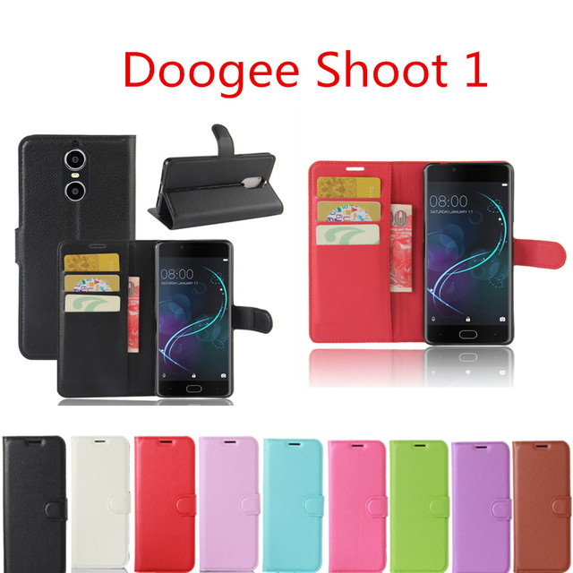 Doogee Shoot 1 Case 5.5inch Wallet Style PU Leather Protective Back Cover For Doogee Shoot 1 Phone Bag Cases With Card Holder